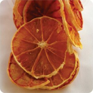 Dried red oranges